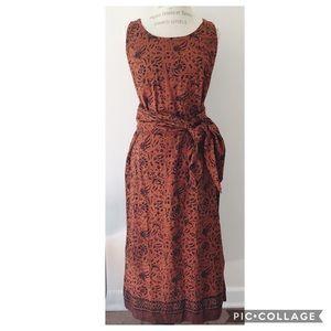 J. Peterman Company Vintage Indonesian Batik Dress